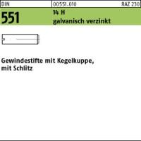 200 Schlitz Gewindestifte ISO 4766 14H verzinkt M4x4