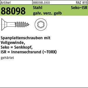 1000 Senkkopf Spanplattenschrauben gelb verzinkt TX 3,5x45 TORX