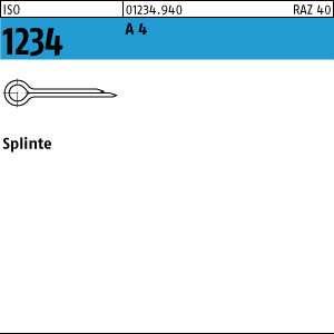 Splinte ISO 1234 Edelstahl A4 1 x 16-100 St/ück