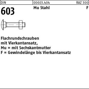 8x70 Flachrundschrauben DIN 603 Mu 8 Stück M8 x 70 Schlossschrauben mit Mutter
