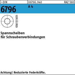 DIN 6796 Spannscheiben Schraubenverbindung Edelstahl A2 A4 diverse Abmessungen