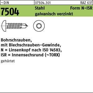 1000 St. 3,9x25 Bohrschrauben DIN 7504 N verz