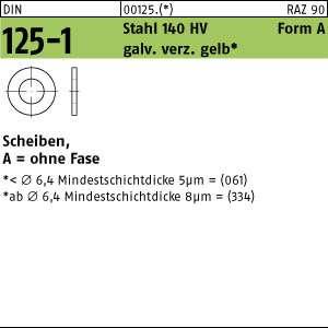 50 Edelstahl V2A Unterlegscheiben DIN 125 A2 140HV Form A 15 Ø M14