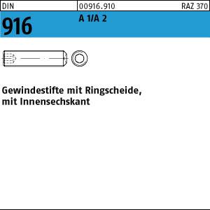 50 Stück M3X6 Gewindestifte mit Ringschneide DIN 916 Edelstahl A2