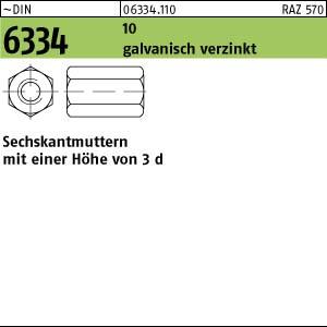 Sechskantmuttern DIN 934 Kl /Ø 24mm VE = 5 St/ück 5-2 Stahl galv M24 verzinkt